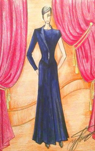 театр оркестр эскиз платье сергей пугачёв