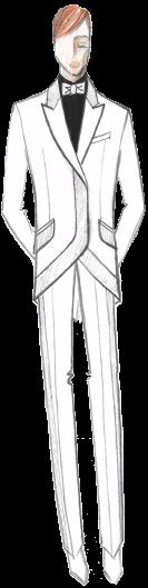 свадебный костюм мужской белый эскиз сергей пугачёв