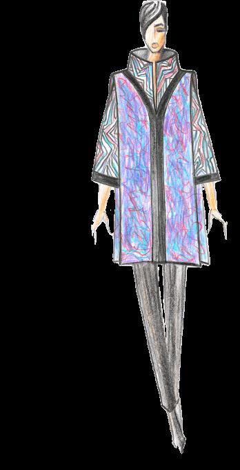 женское пальто эскиз дизайн сергей пугачёв