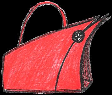 сумка женская эскиз красная