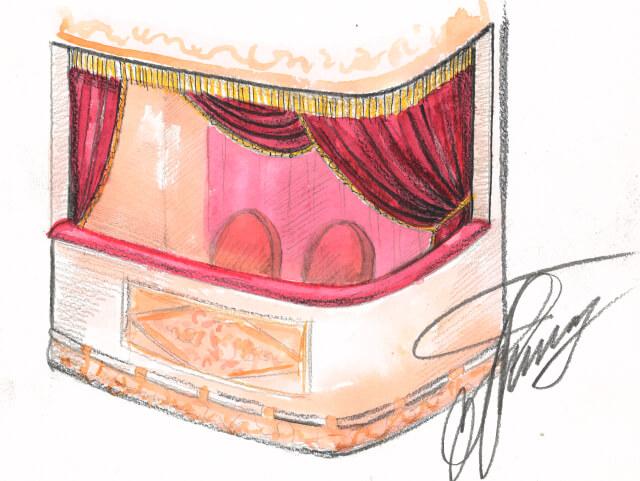 эскиз ложа театр