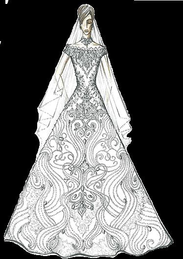 свадебное платье эскиз сергей пугачёв