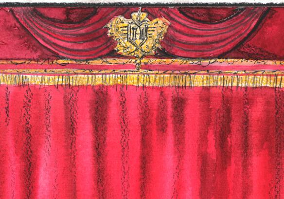 эскиз декор театр