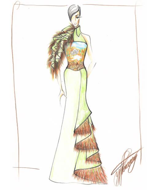 вечернее платье эскиз сергей пугачёв 3