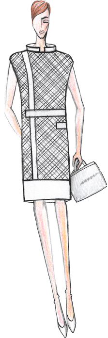 деловое платье женское эскиз сергей пугачёв