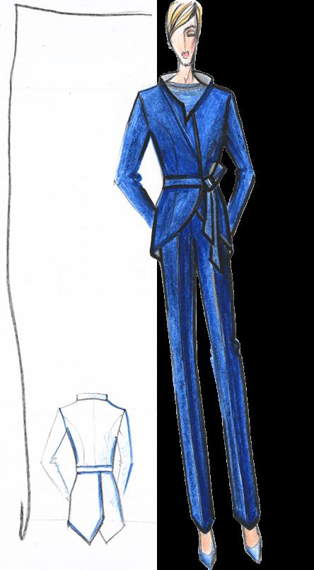 деловой костюм женский эскиз сергей пугачёв