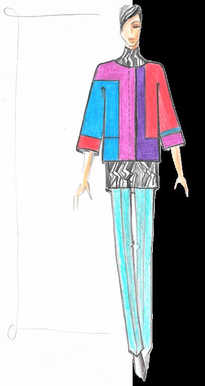 женская куртка эскиз дизайн сергей пугачёв