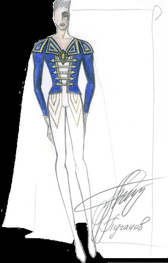 эскиз театральный костюм 22